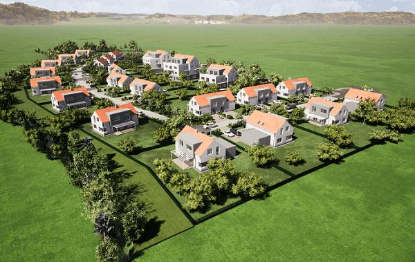 Vizualizace Zelená rezidence Opatovice nad Labem
