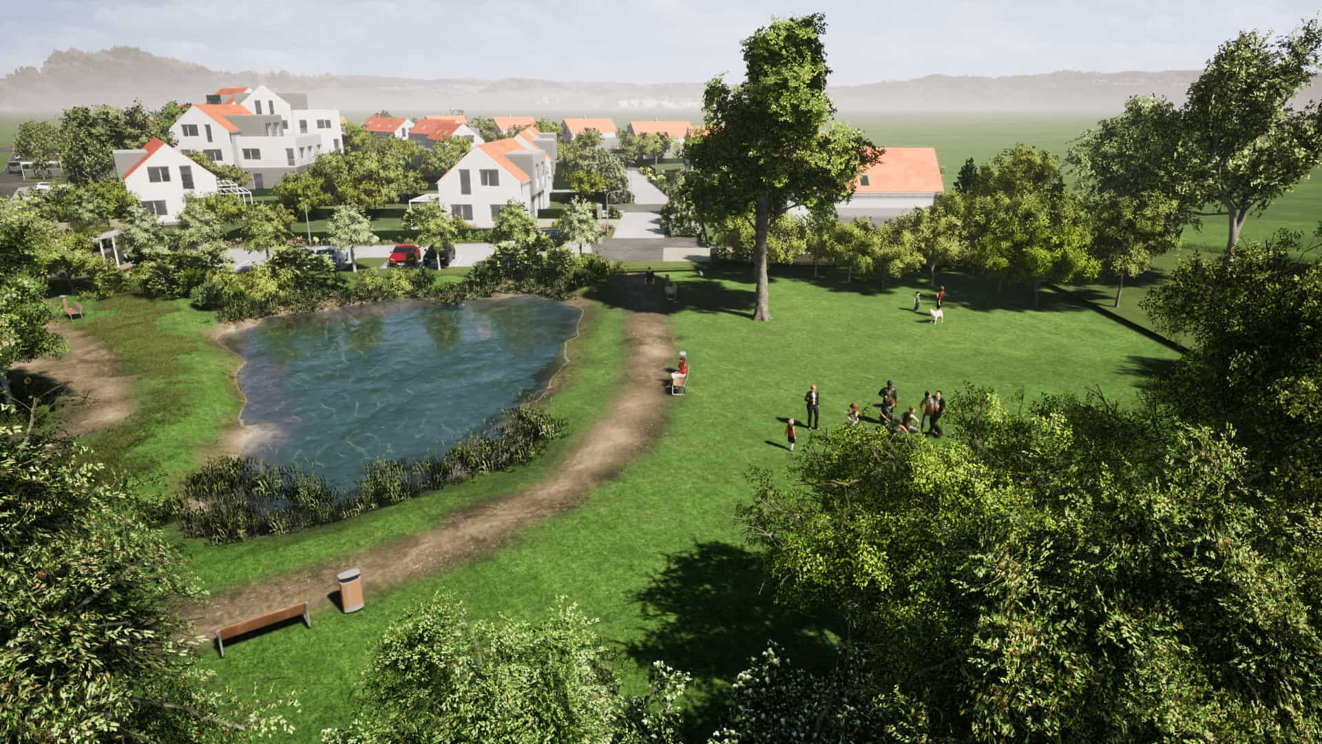 Vizualizace lokalita Zelená rezidence
