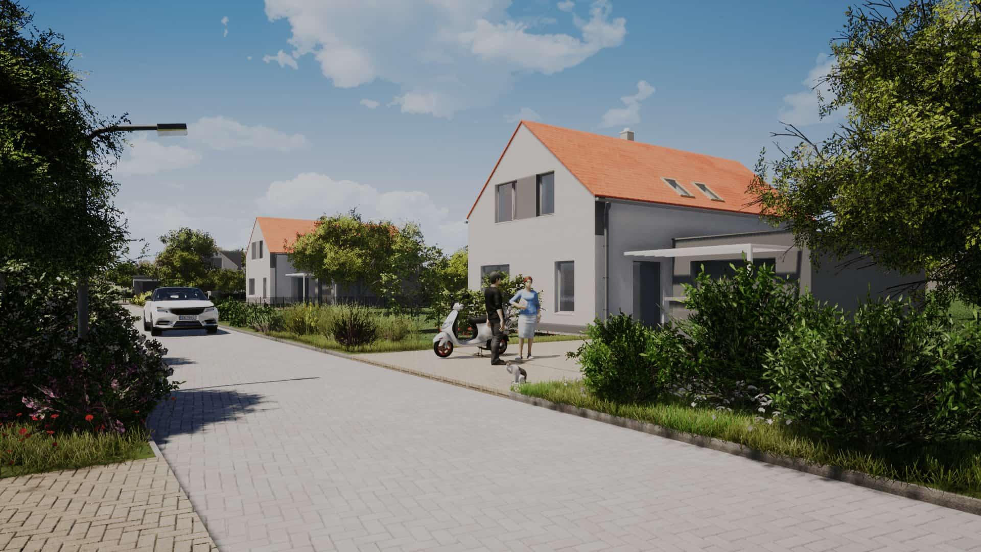 Vizualizace dům Zelená rezidence