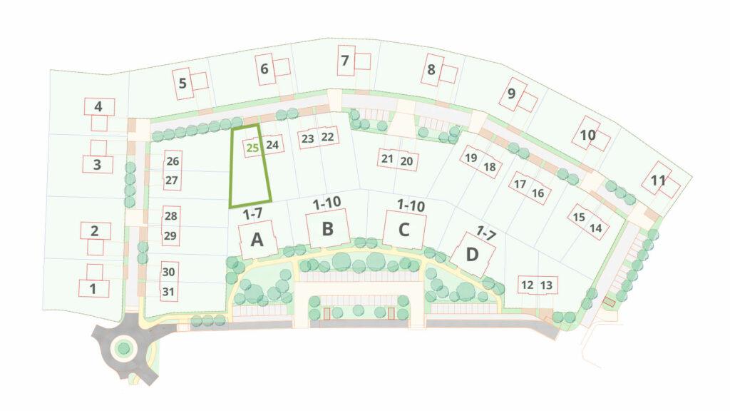 Zelená rezidence schéma