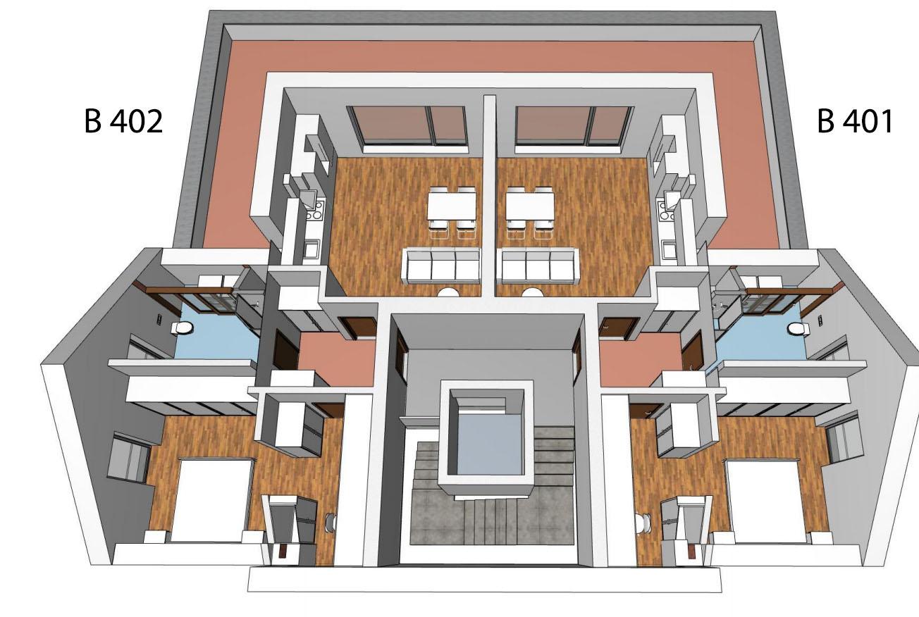 Půdorys 4.NP bytového domu B